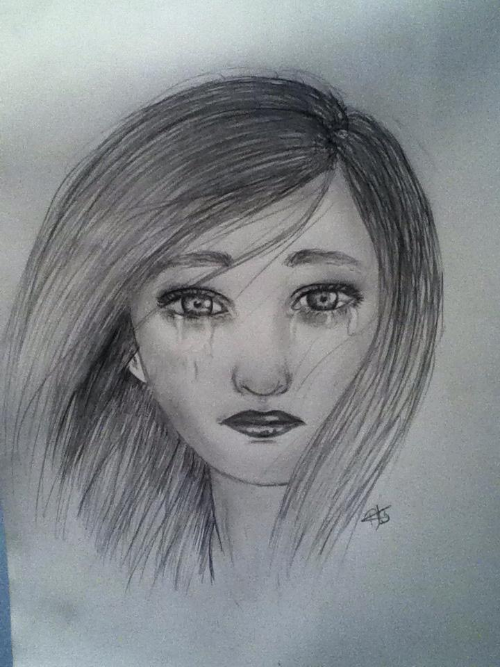 Depressed Girl Drawing at GetDrawings | Free download