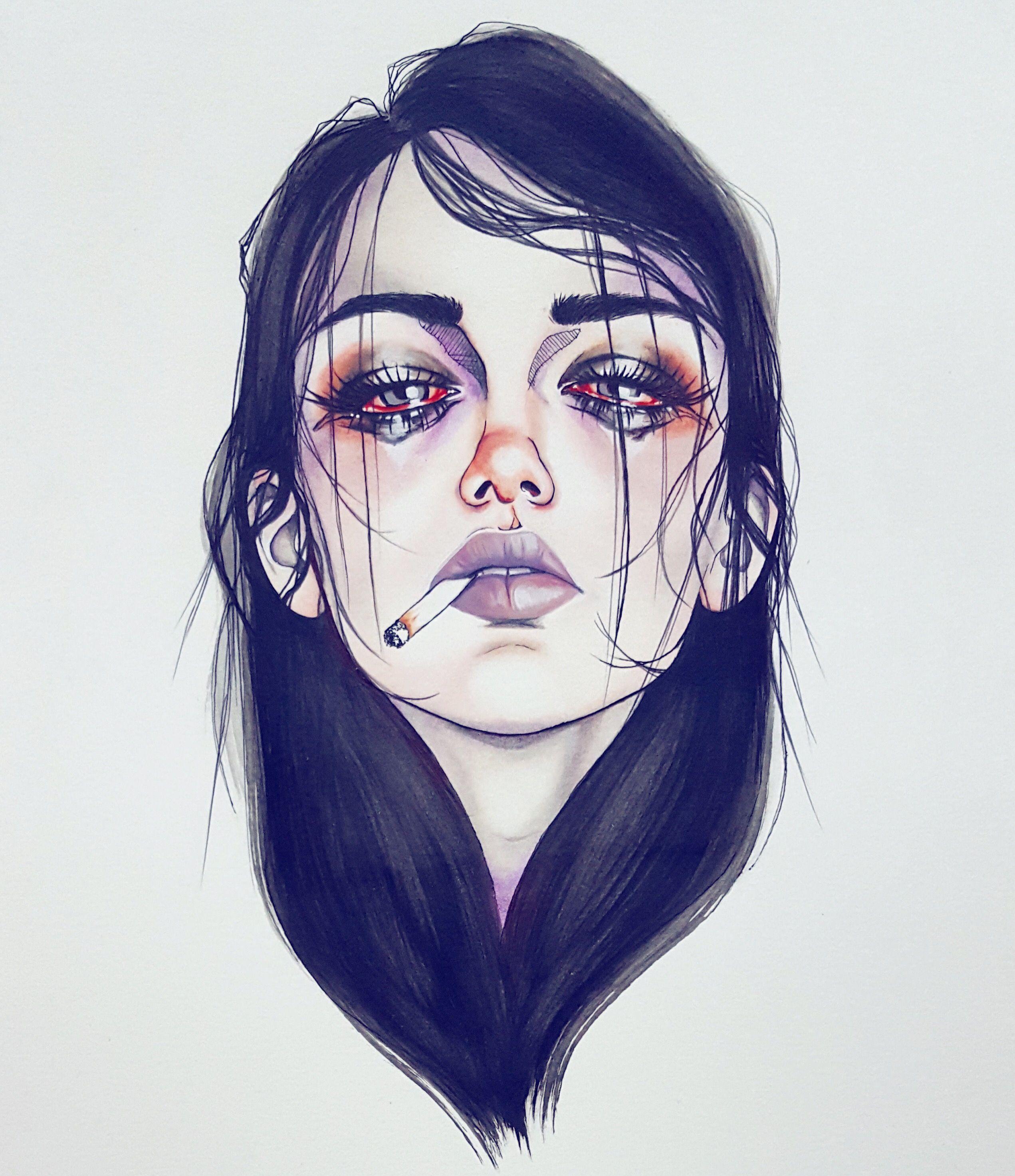 Depressed Girl Drawing at GetDrawings | Free download