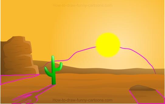 543x343 To Draw A Cartoon Desert
