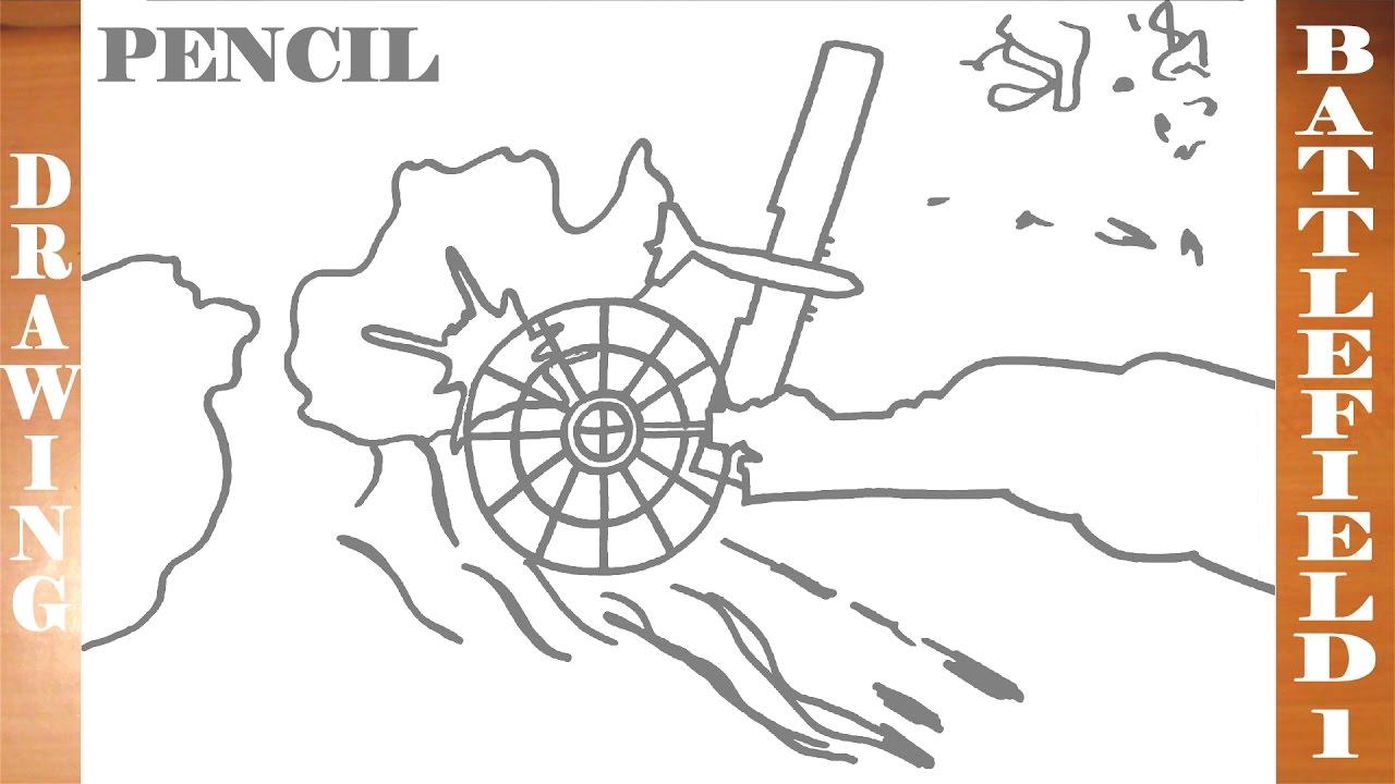 1280x720 How To Draw Battlefield 1 Sinai Desert Train Vs Plane Easy