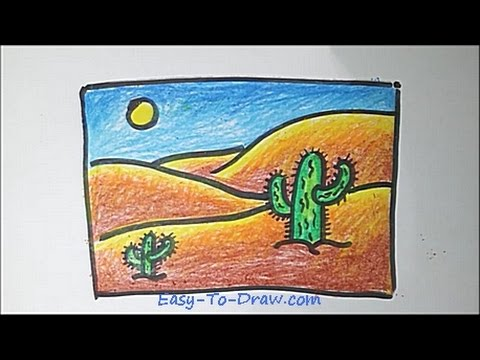 480x360 How To Draw A Cartoon Desert Step By Step