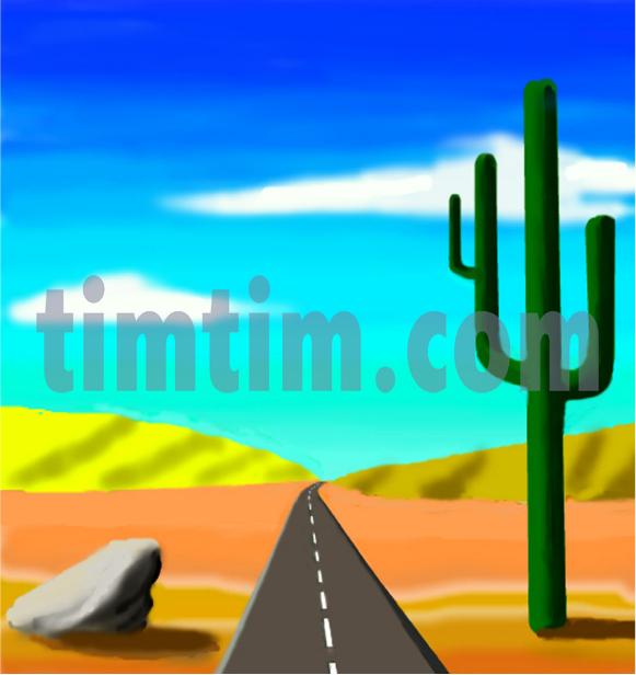 581x616 Desert Drawings For Kids