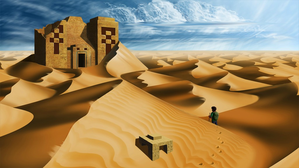 1025x576 Realistic Desert Temple (Old Drawing) Minecraft