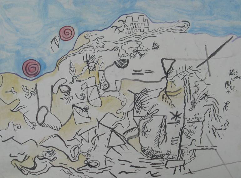 770x570 Saatchi Art Desert Scene Drawing By Gregory Ricci