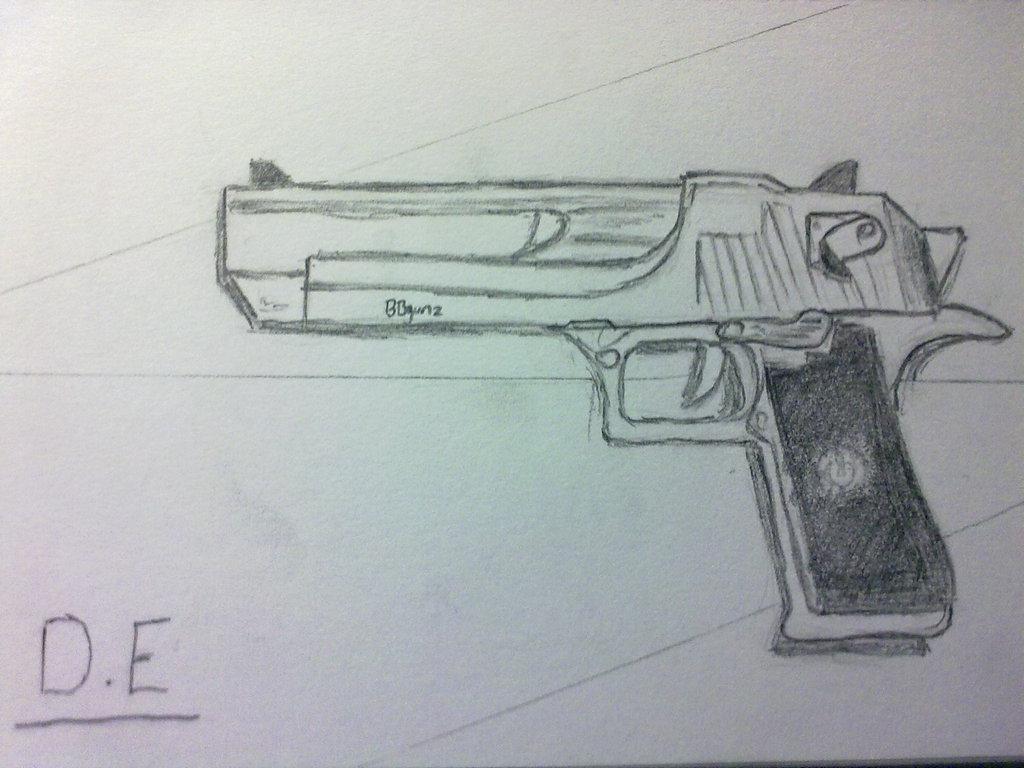 1024x768 Crossfire Art Drawings Desert Eagle By Urbanworld27