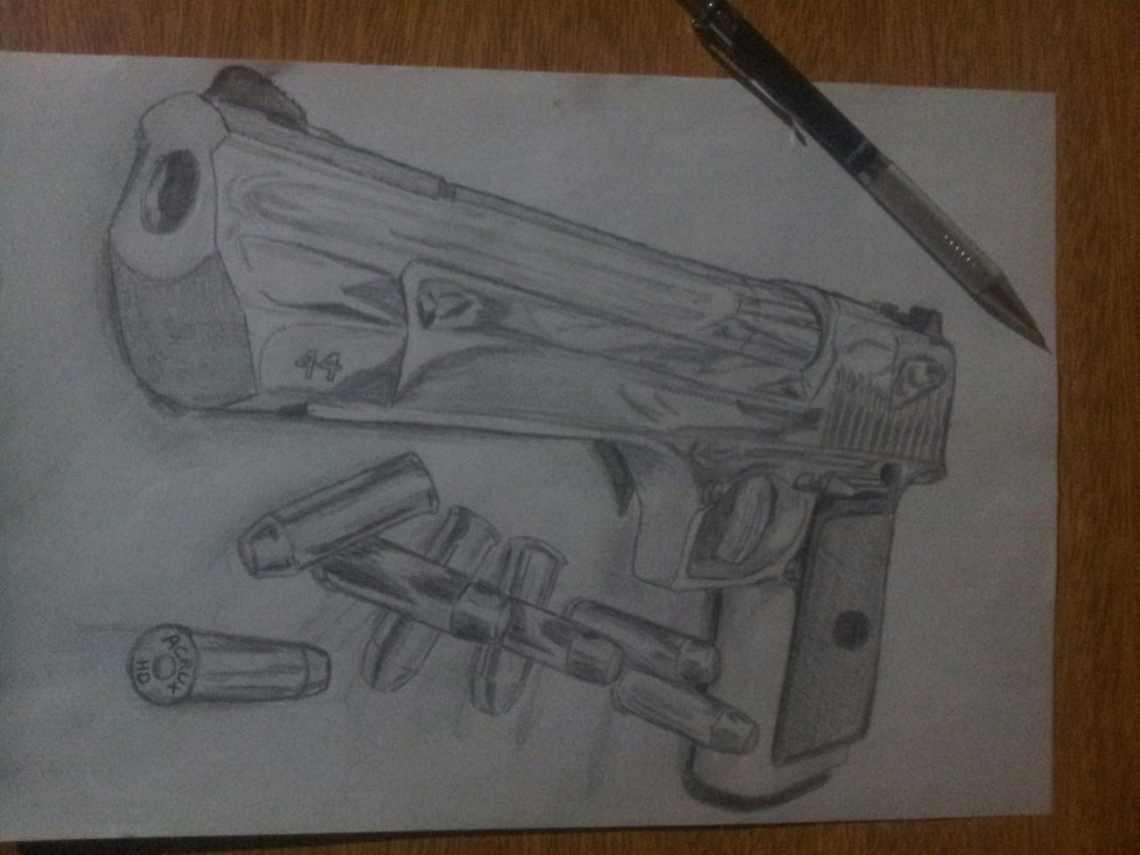 1280x960 Dibujando Drawing Magnum 44 Desert Eagle