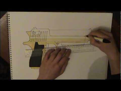 480x360 How To Draw (Gold) Desert Eagle