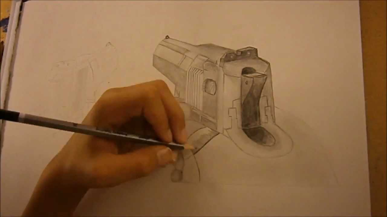 1280x720 Speed Drawing Mw3 Desert Eagle Akimbo!