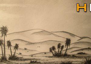 300x210 Desert Landscape Drawing Drawn Landscape Desert Ecosystem