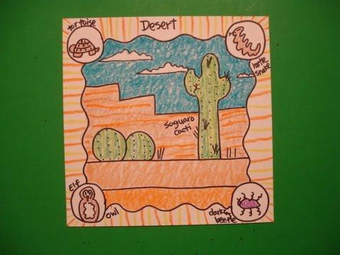 480x360 Let's Draw Animal Habitats The Desert!