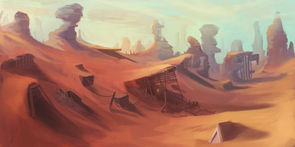 1024x512 Desert Landscape Drawing Images About Scene