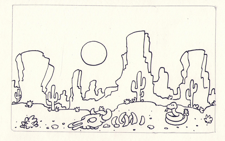 2627x1648 Desert Scene The Art Of Kevin M. Rucker