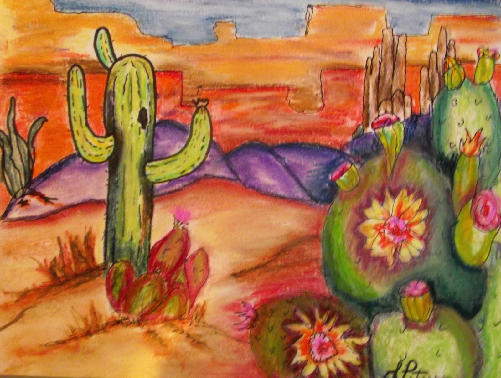 1600x1207 Leslie's Art Blog Desert Landscape