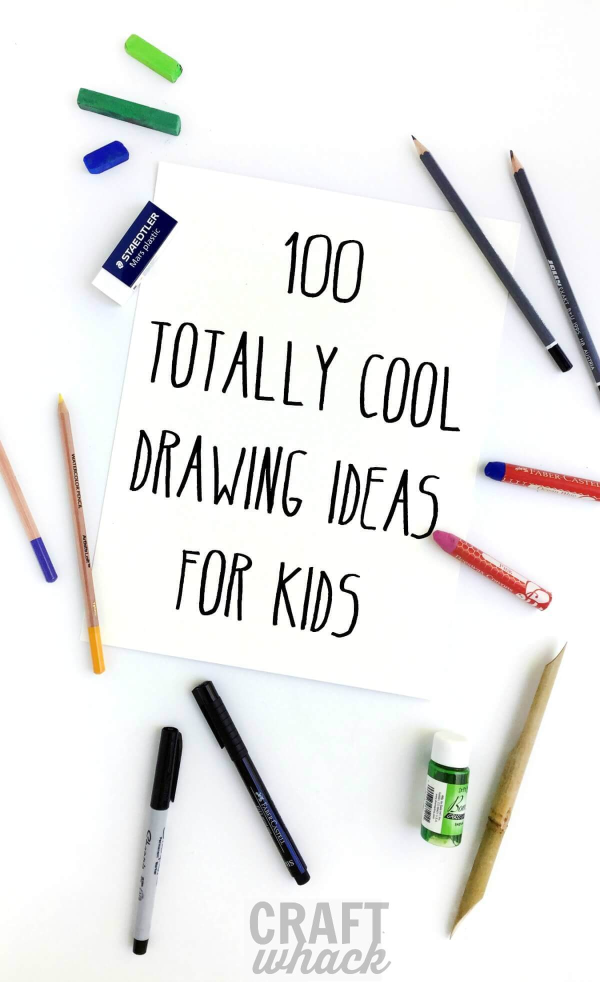 1200x1964 100 Crazy Cool Drawing Ideas For Kids Craftwhack