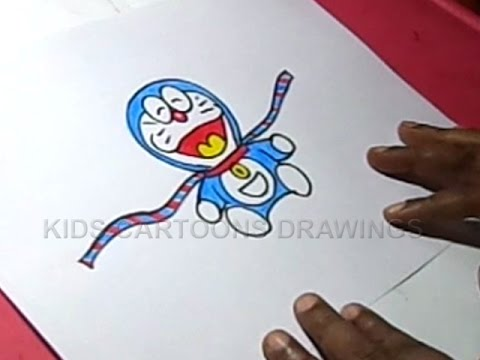 480x360 How To Make Handmade Doremon Rakhi Drawing For Kids Step By Step