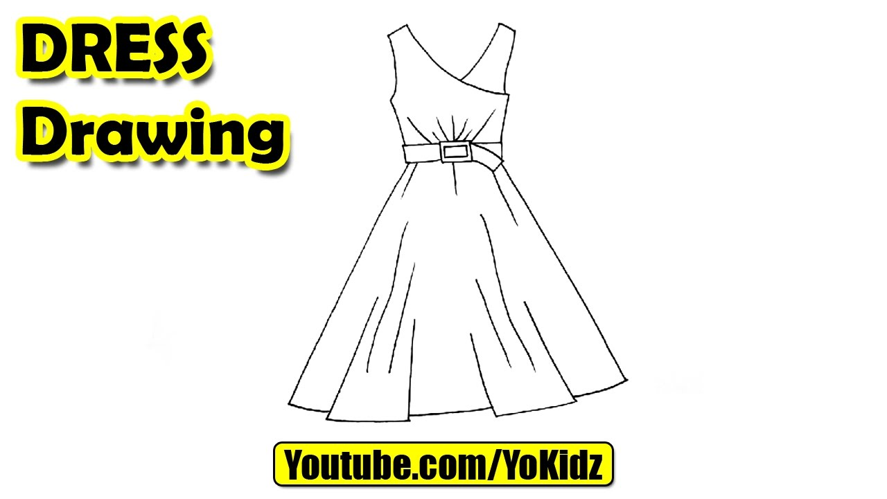 1280x720 How To Draw A Dress Easy For Kids