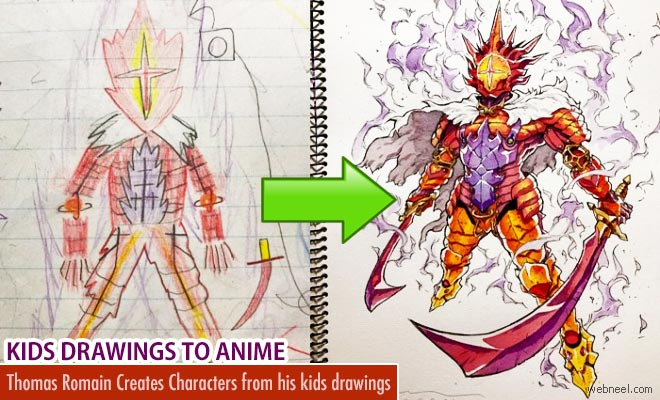 660x400 Anime Character Designs From Kids Drawings By Thomas Romain