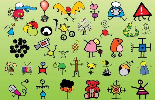 600x389 Kids Drawing Free Vector Download (90,371 Free Vector)