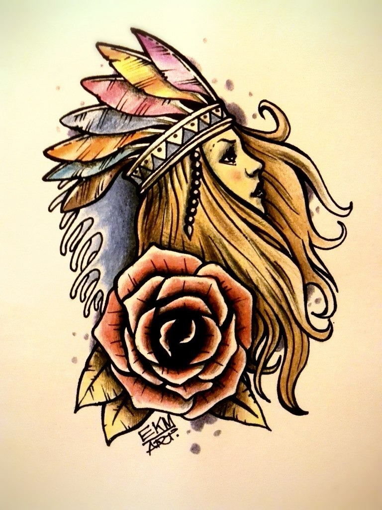 768x1024 Girl Tattoos Girl Rose Tattoo Designs