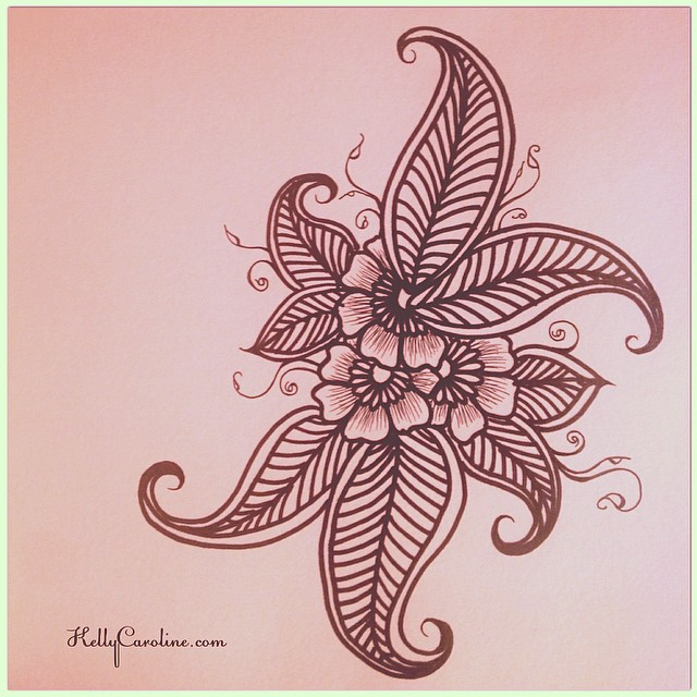 640x640 Late Night Sketch Henna Style Flowers Amp Leaves henna