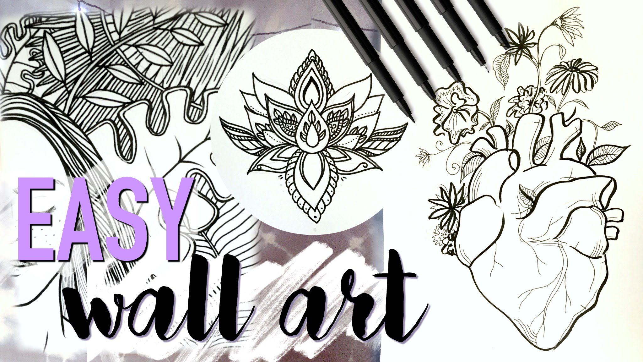 2048x1152 Easy Diy Wall Art Decor (Tumblr Inspired Drawing Tutorial