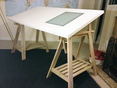 500x375 Ikea Drawing Table With Lightbox Best Trestle Table Desk Drawing