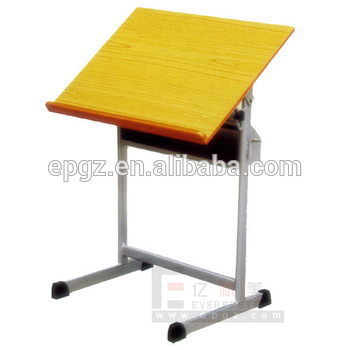 350x350 Simple Design Wooden Mdf Board Drawing Drafting Desk With Metal