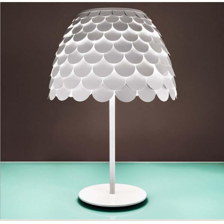 750x750 Discount Modern Creative Pine Cone Desk Lamps White Table Lamp