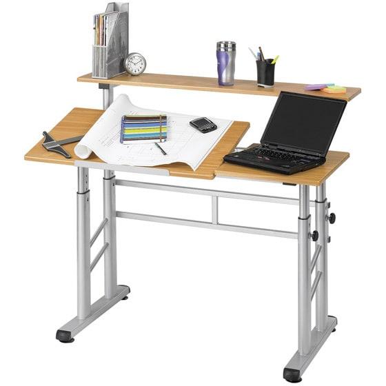 560x560 Drafting Table Desk Safco Height Adjustable Split Level Office