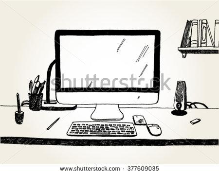 450x358 Drawn Cartoon Desk