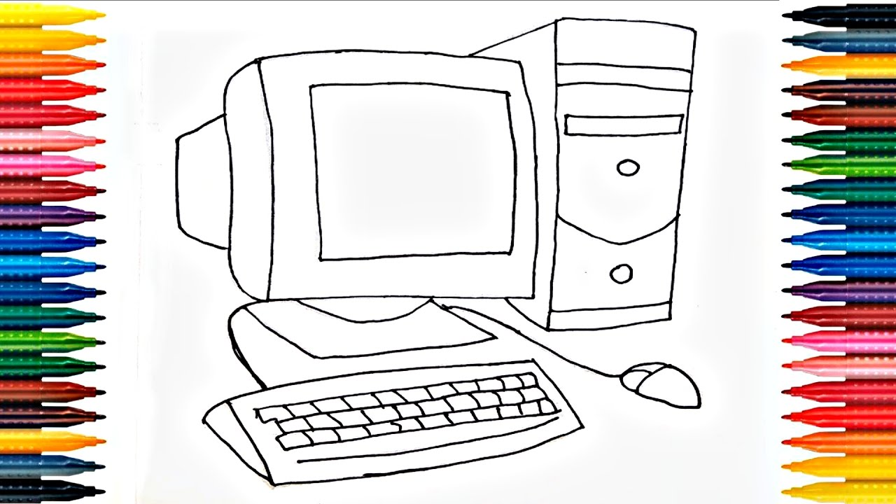 1280x720 Colours For Kids Desktop Coloring Pages How To Color Computer