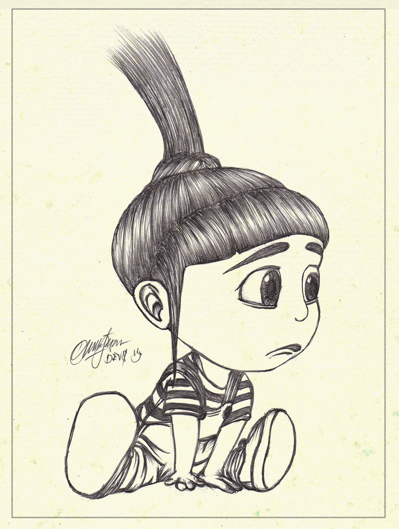 Despicable Me Agnes Drawing at GetDrawings | Free downloadDespicable Me Drawing