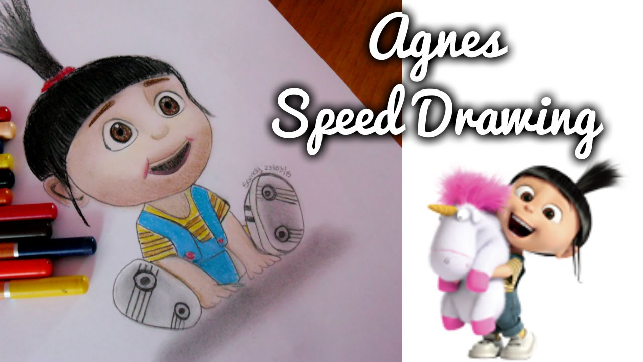 1280x720 Drawing Agnes From (Despicable Me 2)