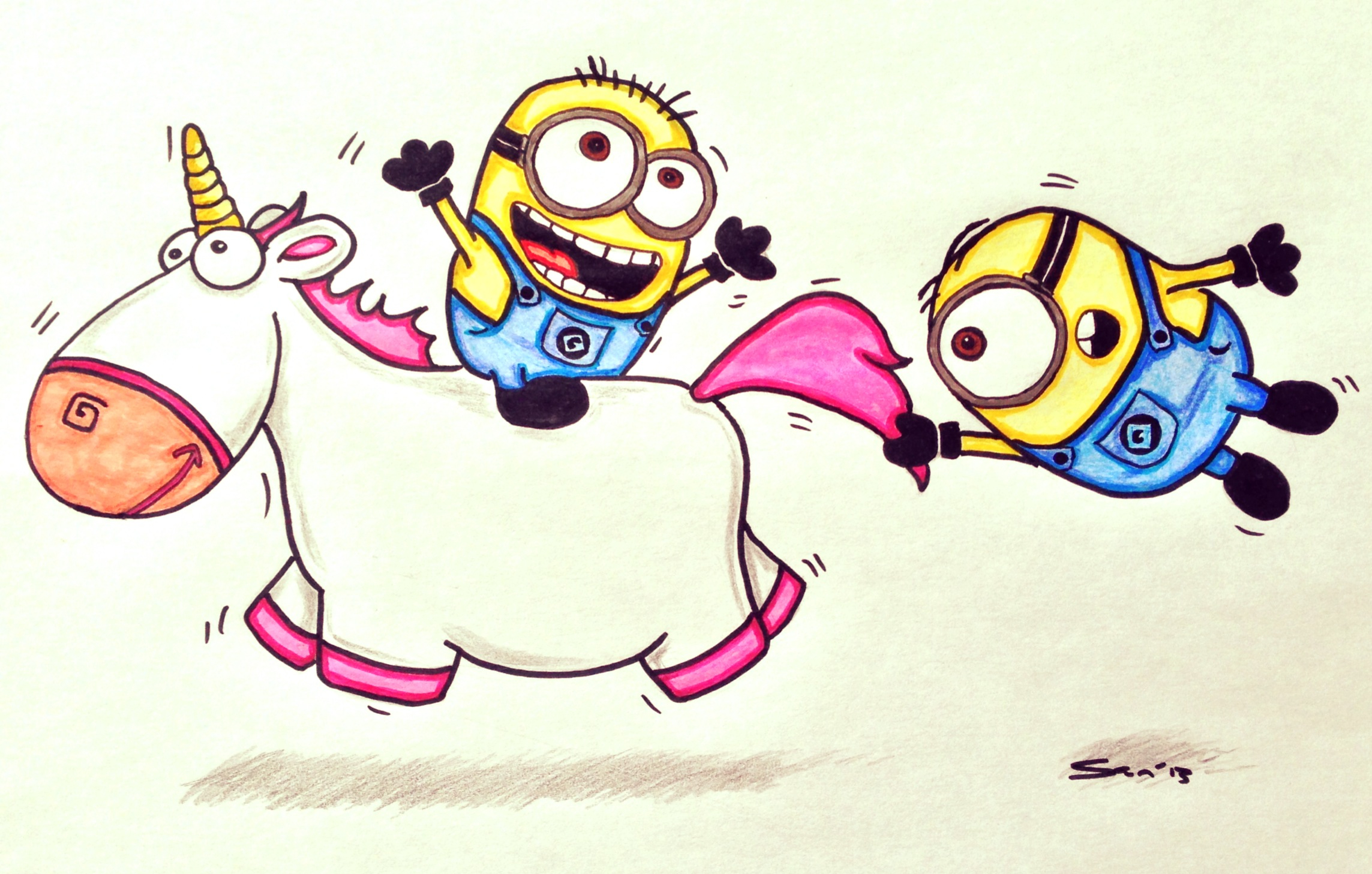 Despicable Me Unicorn Drawing At GetDrawings