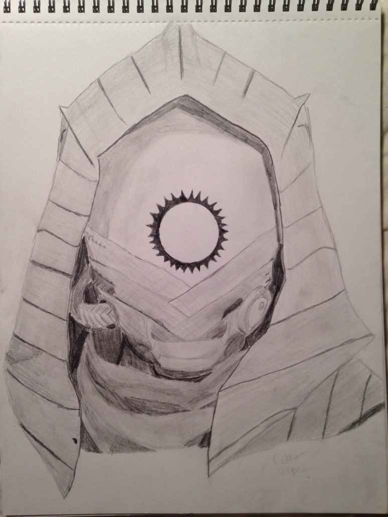 774x1032 Burning Eye Mask Pencil Drawing (Destiny) By Cosmo1315