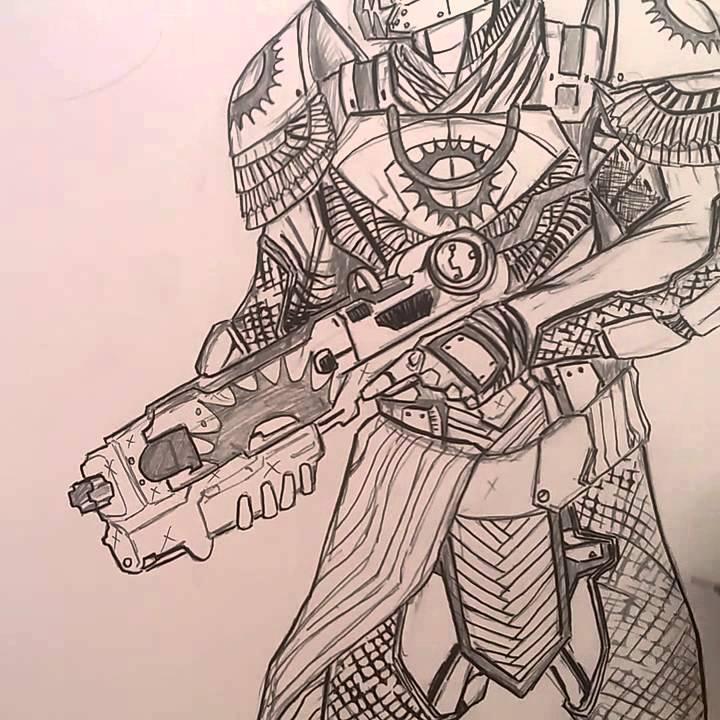 720x720 Destiny The Taken King Trials Of Osiris Titan Drawing Part 12