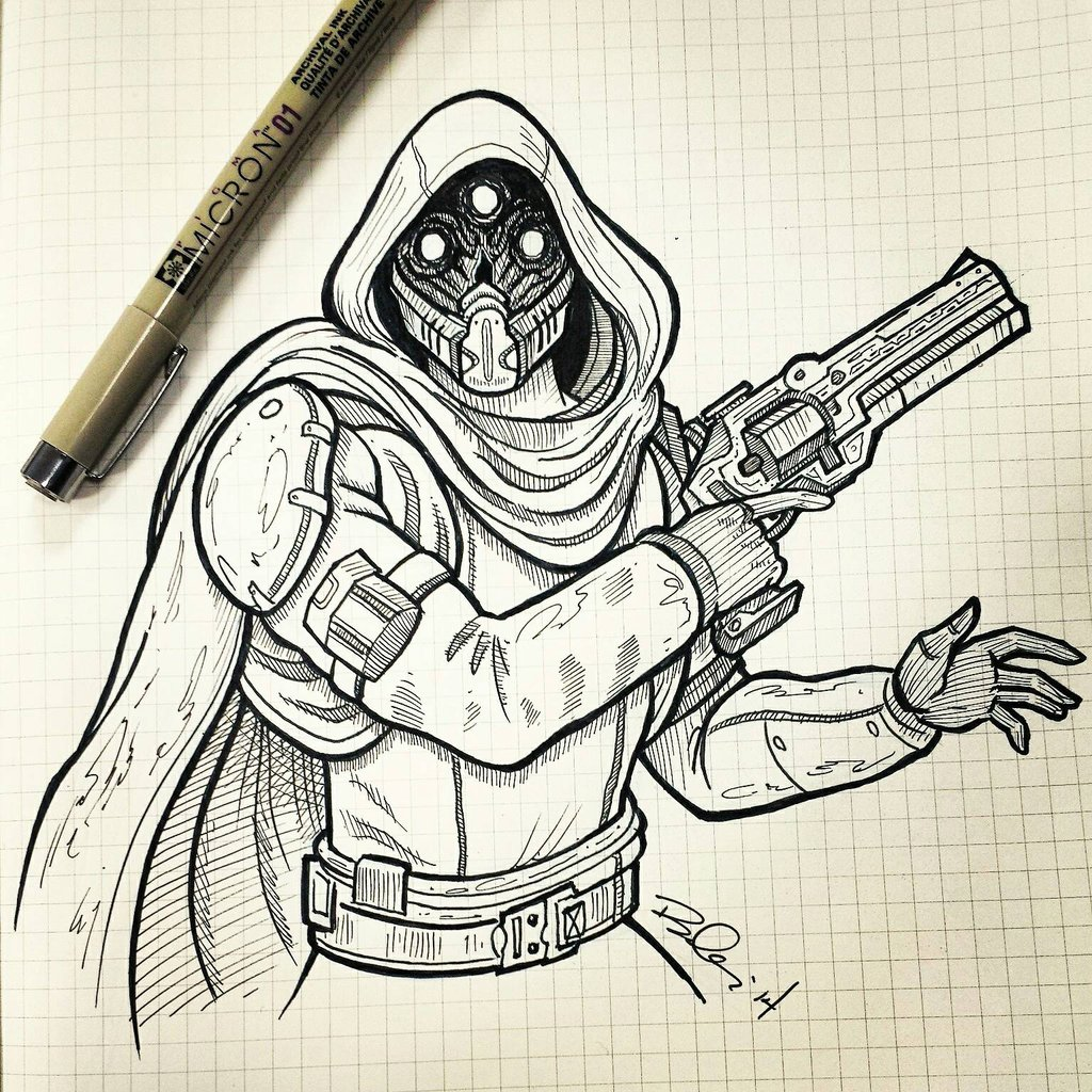 1024x1024 Hunter From Destiny By Koboneart On Destiny.(The Game
