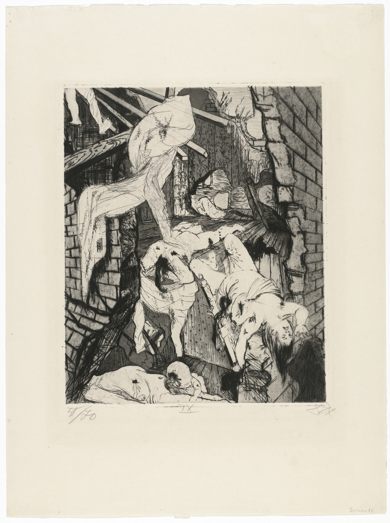 1491x2000 Moma The Collection Otto Dix. House Destroyed By Aerial Bombs