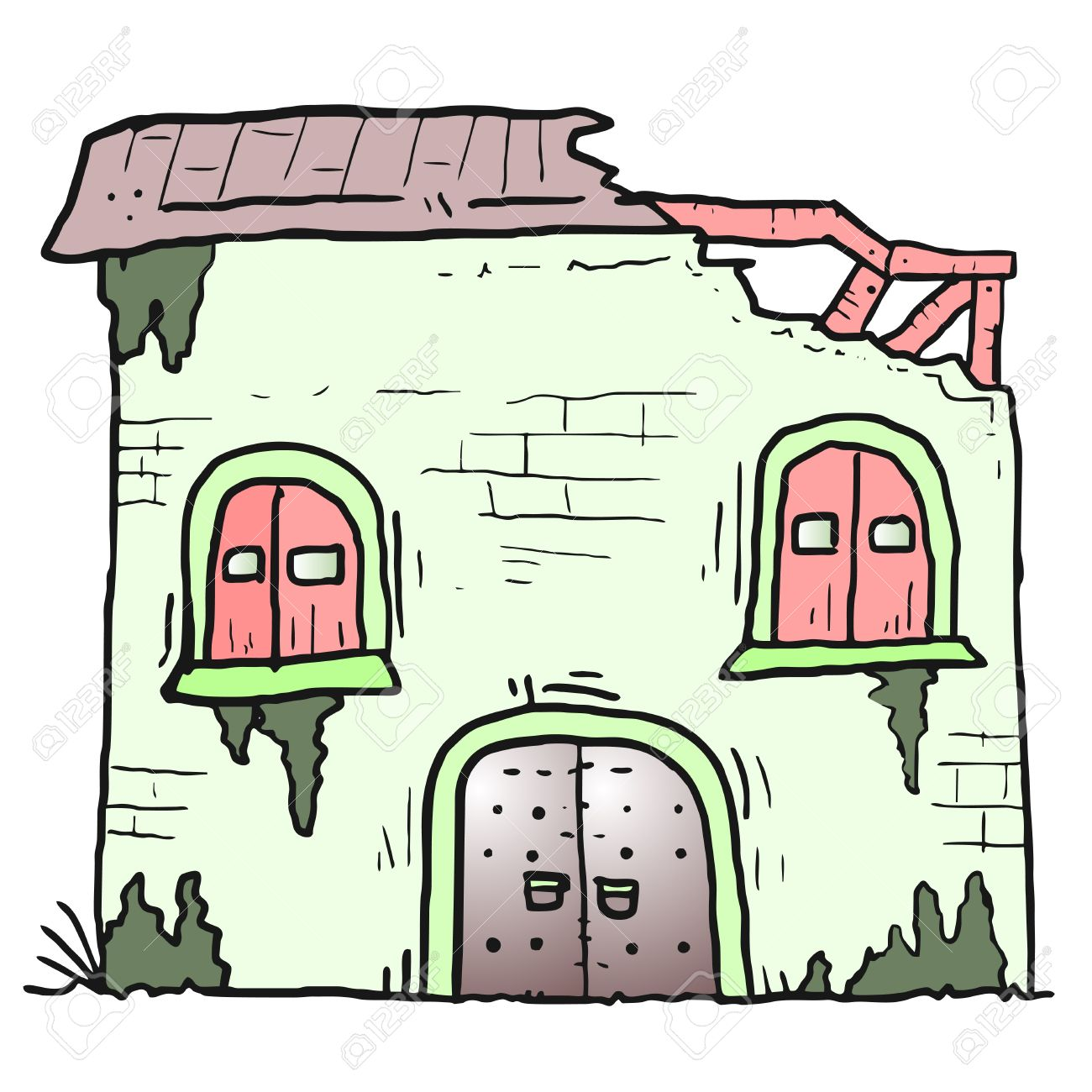 1300x1300 Ruins House Royalty Free Cliparts, Vectors, And Stock Illustration