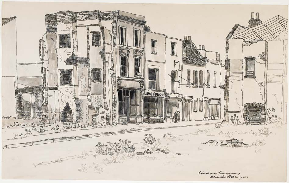 948x600 This Drawing Records Bomb Damaged Buildings In Limehouse Causeway