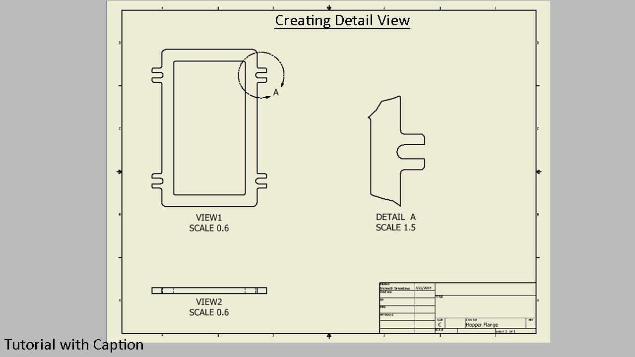 1280x720 Create Detail View In Drawing Sheet (Autodesk Inventor)