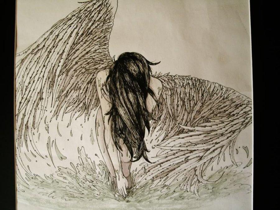 900x675 Fallen Angel By Colourlessvalor