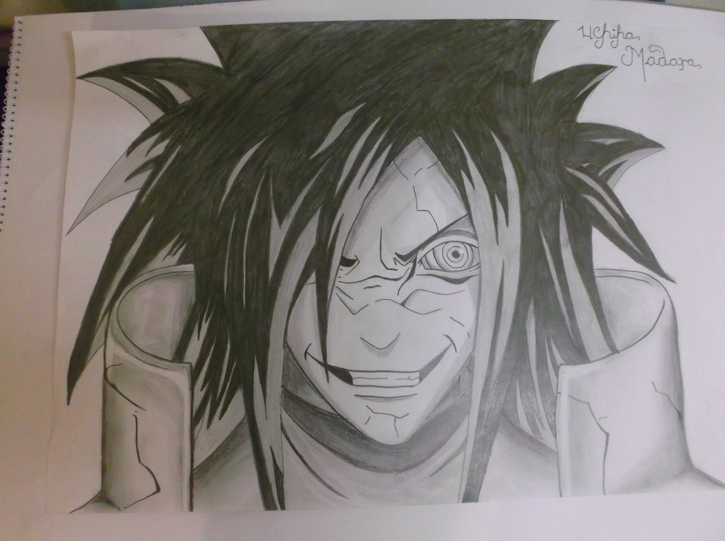 1023x764 Madara Detailed Pencil Drawing by I LOVE CHOCOLATE96 on DeviantArt