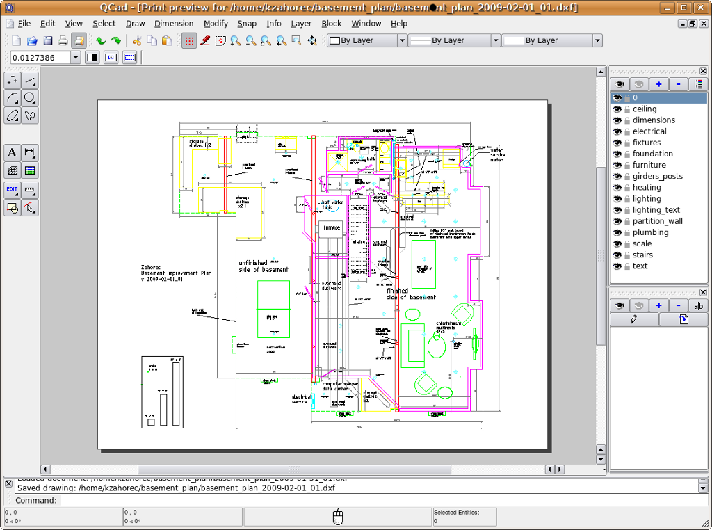 1024x762 Librecad Creating A Detailed Design Drawing For A Basement
