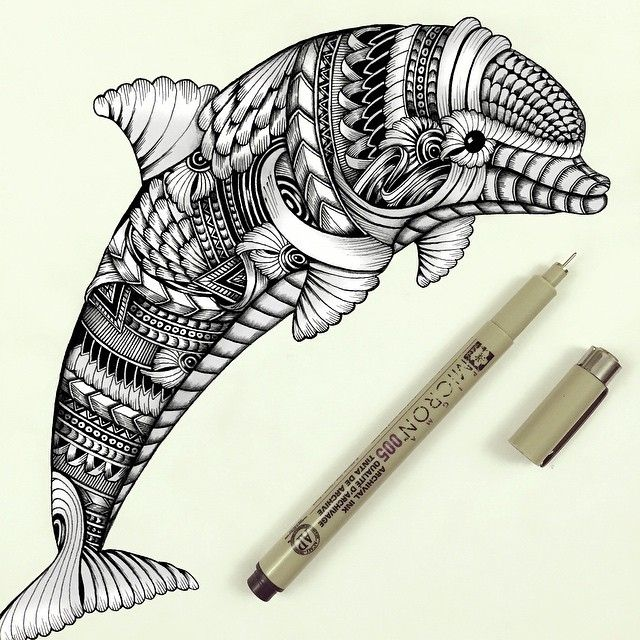 640x640 Detailed Drawings Representing Complex Animal Detailed Drawings
