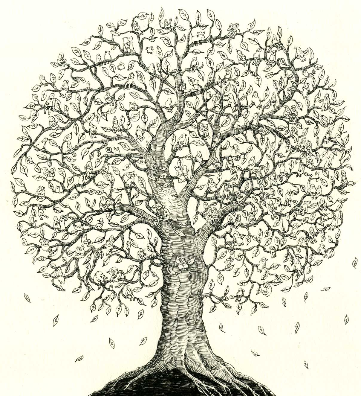 Detailed Tree Drawing at GetDrawings.com | Free for personal use ...
