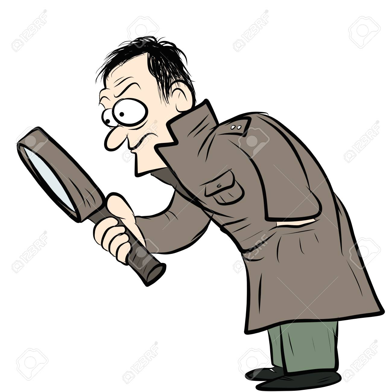 1300x1300 Detective Drawing Royalty Free Cliparts, Vectors, And Stock