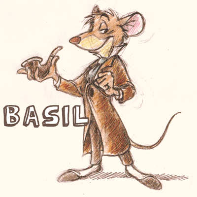 400x400 How To Draw Basil From The Great Mouse Detective With Easy Step By