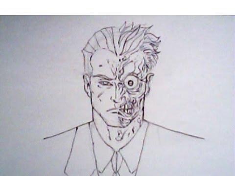 480x360 How To Draw Twoface From Batman (Detective Comics, Dc Comics