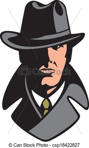285x470 Private Detective Vector Illustration